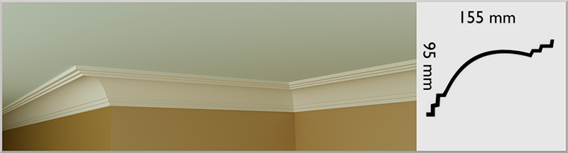 Cosgrave Coving / Cornice, handmade in Kilcock by Euromould for supply throughout Ireland