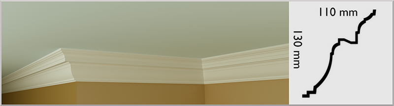 Large Victorian Coving / Cornice, handmade in Kilcock by Euromould for supply throughout Ireland