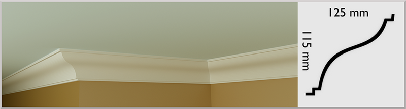 S Profile Coving / Cornice, handmade in Kilcock by Euromould for supply throughout Ireland