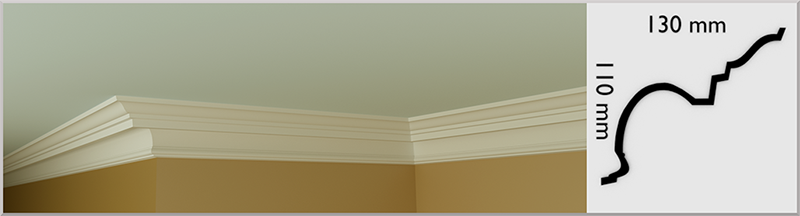 Stock Coving / Cornice, handmade in Kilcock by Euromould for supply throughout Ireland
