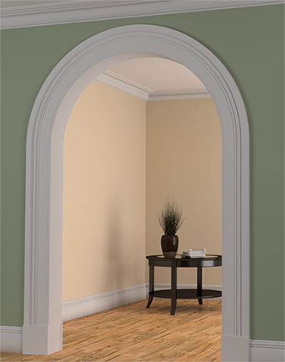 plaster mould archway